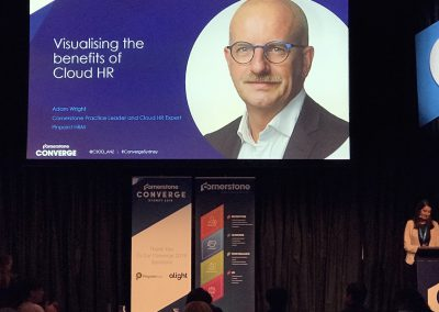 Visualising the benefits of Cloud HR - Pinpoint HRM presentation at Converge Sydney 2018