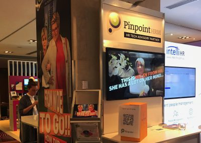 Pinpoint HRM booth at HR Tech Fest 2017