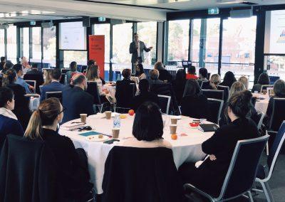 Daniel Bennett from Pinpoint HRM at the Sydney Uni HR Forum 2018